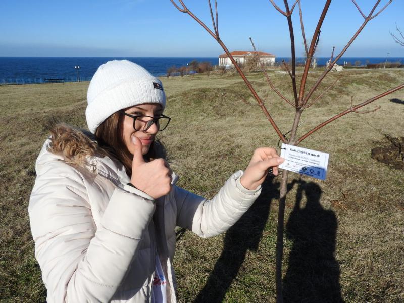 20 нови дръвчета засадиха млади доброволци в Ахтопол