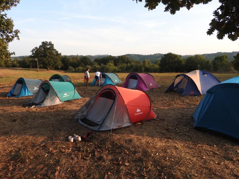 Детски лагер на палатки в Странджа